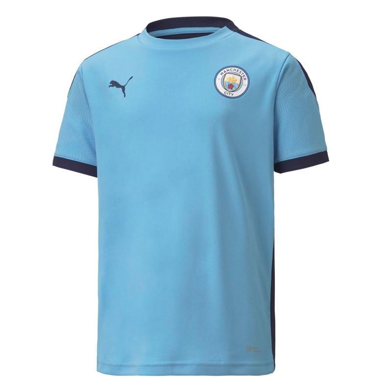 Puma Manchester City Training Shirt 2020 2021 Junior Blue