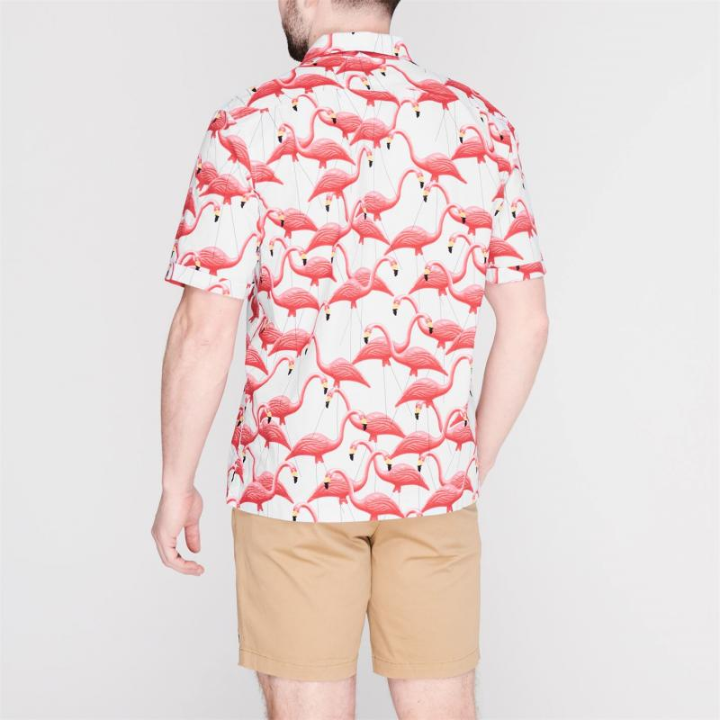 Original Penguin Flamingo Shirt 402 Ballad Blue