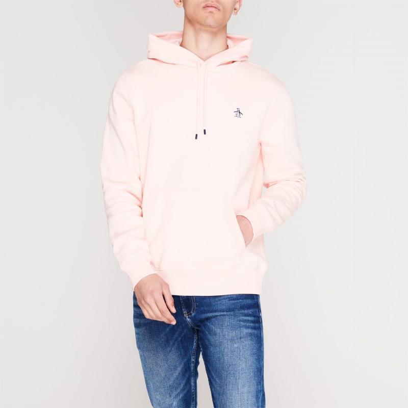 Mikina Original Penguin Fleece Popover Hoodie 682 Impat Pink