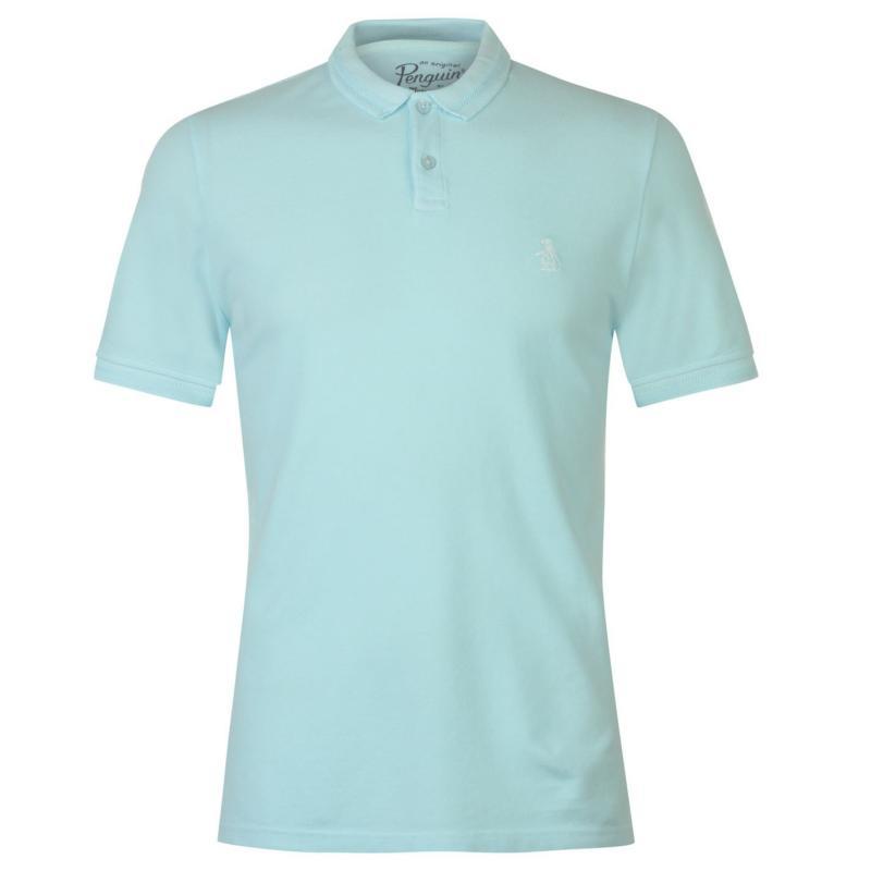 Original Penguin Original Garment Dye Polo Shirt Pastel Blue