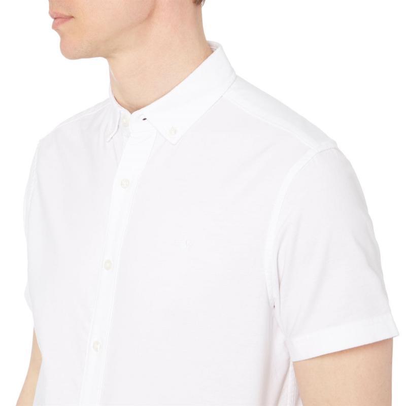 Original Penguin Original Short Sleeve Oxford Shirt Bright White