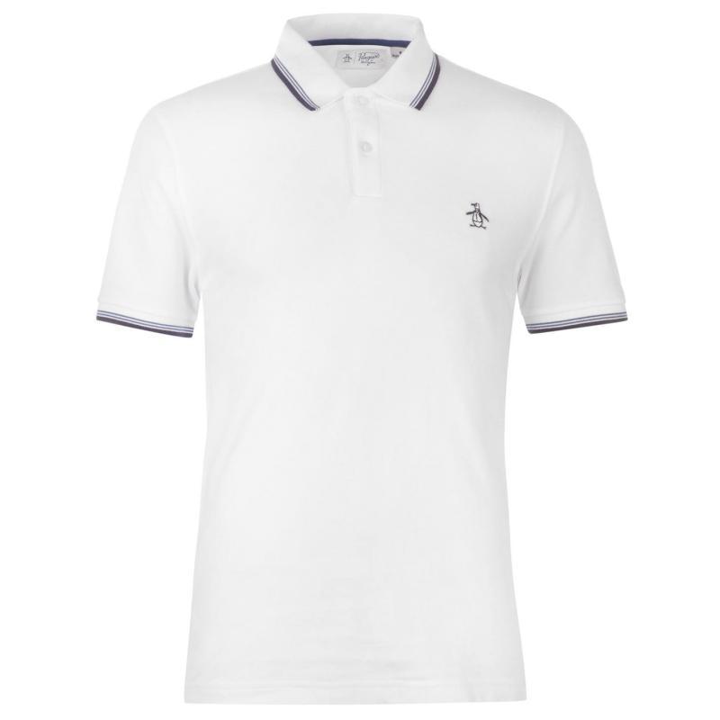 Original Penguin Original Short Sleeve Tipped Polo Shirt Bright White
