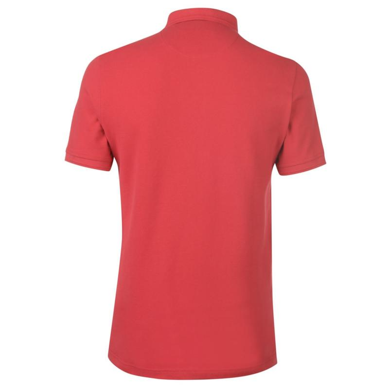 Original Penguin Penguin Short Sleeve Raised Rib Polo Mens Lipstick Red