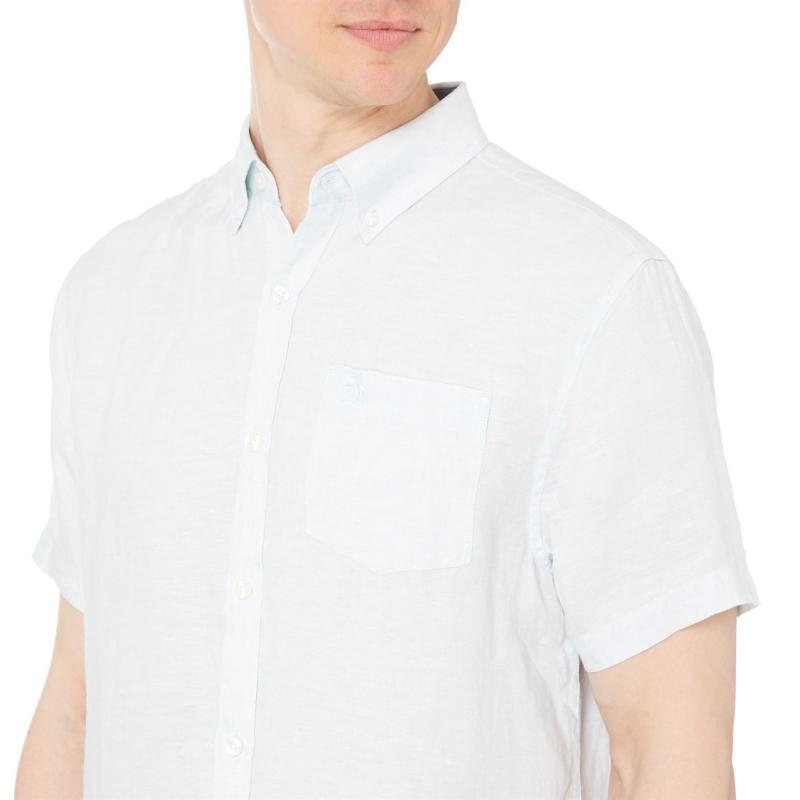 Original Penguin Penguin Short Sleeve Shirt Mens Pastel Blue