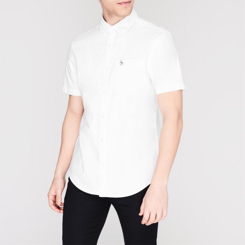 Original Penguin Short Sleeve Oxford Shirt 118 Bright Wht
