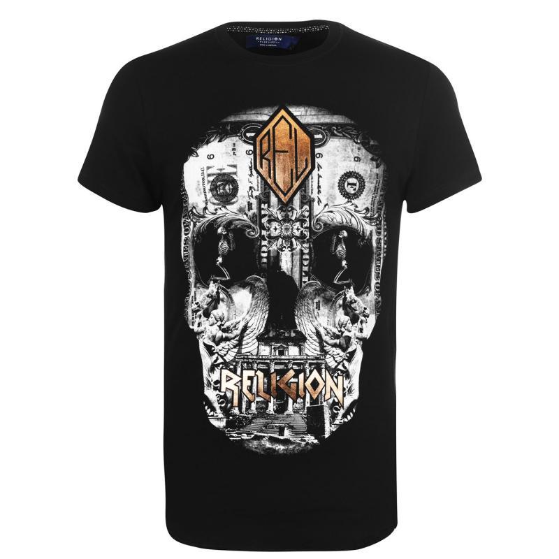Tričko Religion Poster T Shirt Black