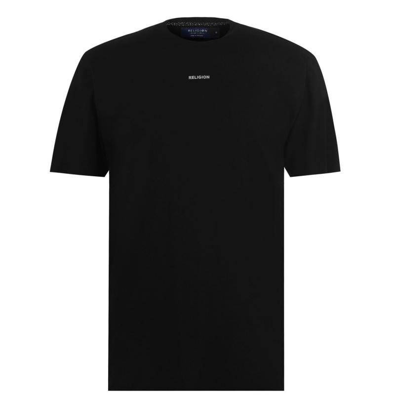 Tričko Religion Raven Skull T Shirt Black