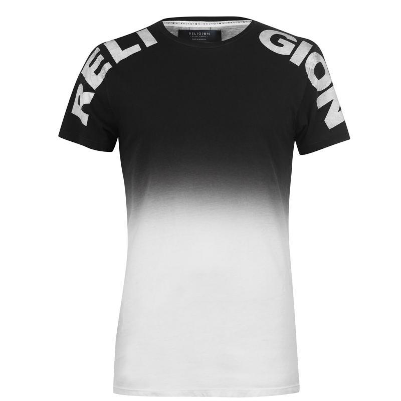 Tričko Religion Submerge T Shirt Black/Pink
