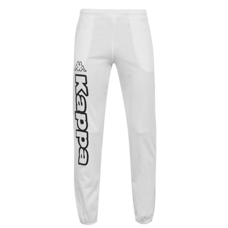 Tepláky Kappa Cosma Jogging Bottoms Mens White/ Black