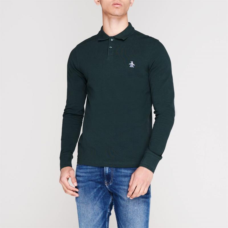 Original Penguin Original Long Sleeve Polo Shirt DarkSpruce372