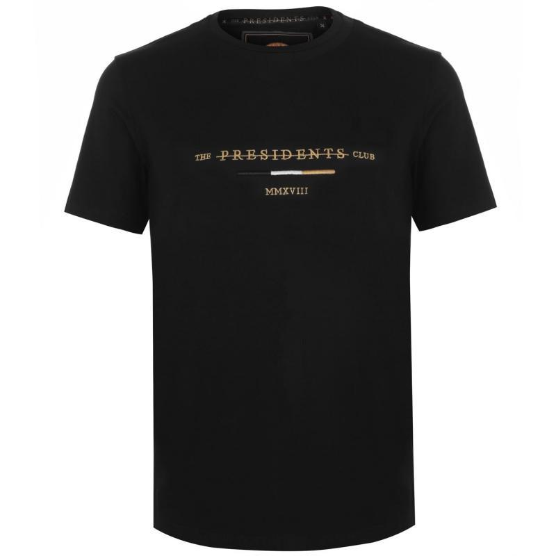 Tričko Presidents Club Icon T Shirt Black