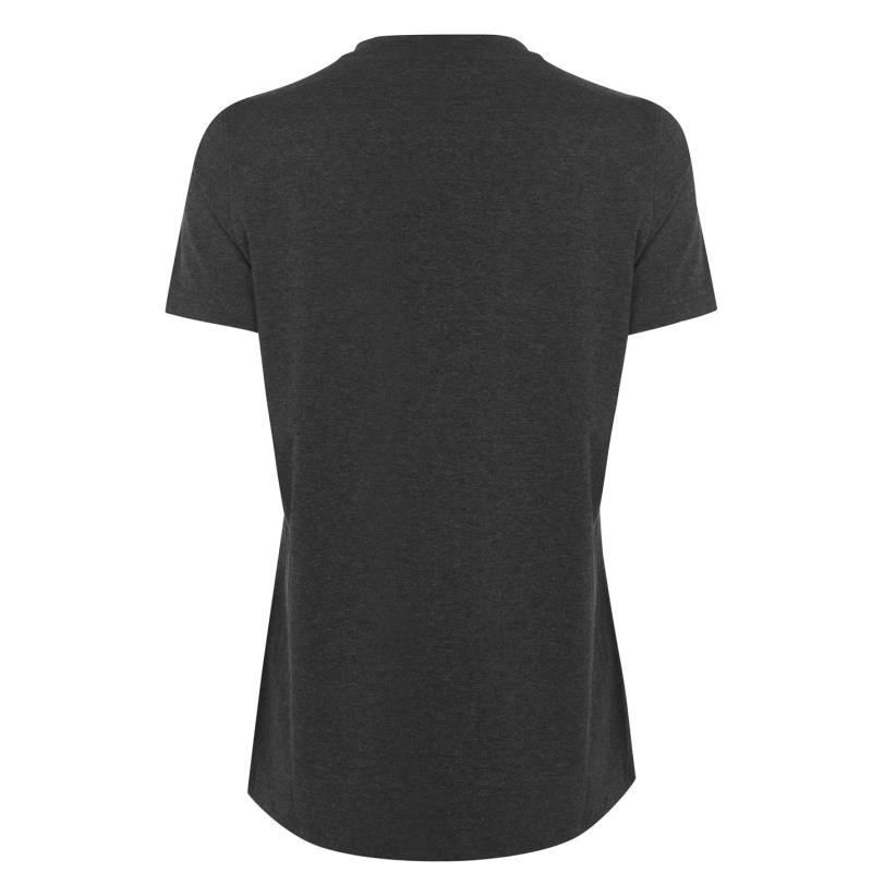 USA Pro Long Line T-Shirt Womens Charcoal Marl