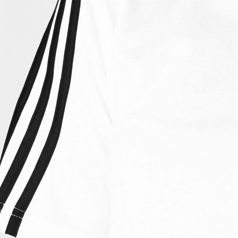 Adidas 3S Crop T Shirt Womens White/Black