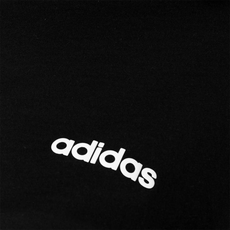 Adidas 3S Crop T Shirt Womens Black/White