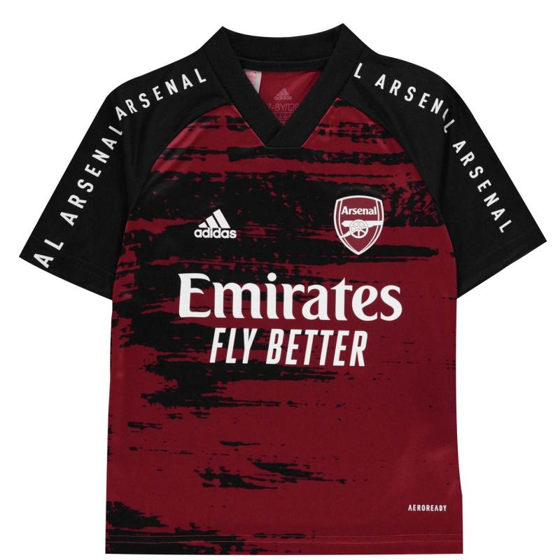 Adidas Arsenal Pre Match Shirt 2020 2021 Junior Maroon