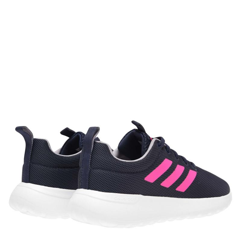 Adidas Lite Racer 2 Junior Girls Trainers Blue/Wht/Pink