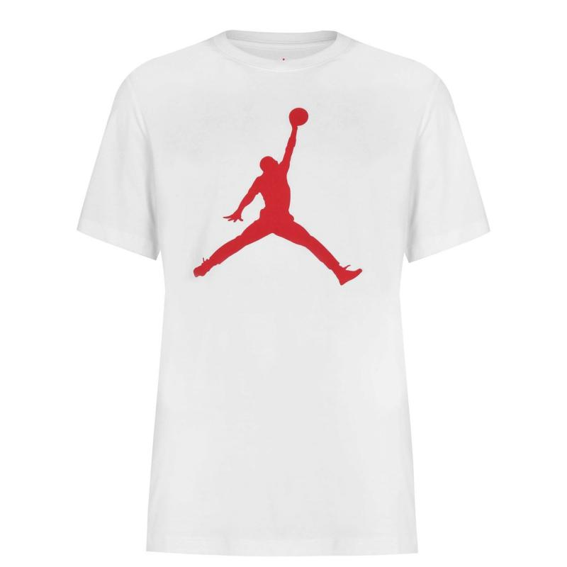 Tričko Air Jordan Big Logo T Shirt Mens WHITE/GYM RED