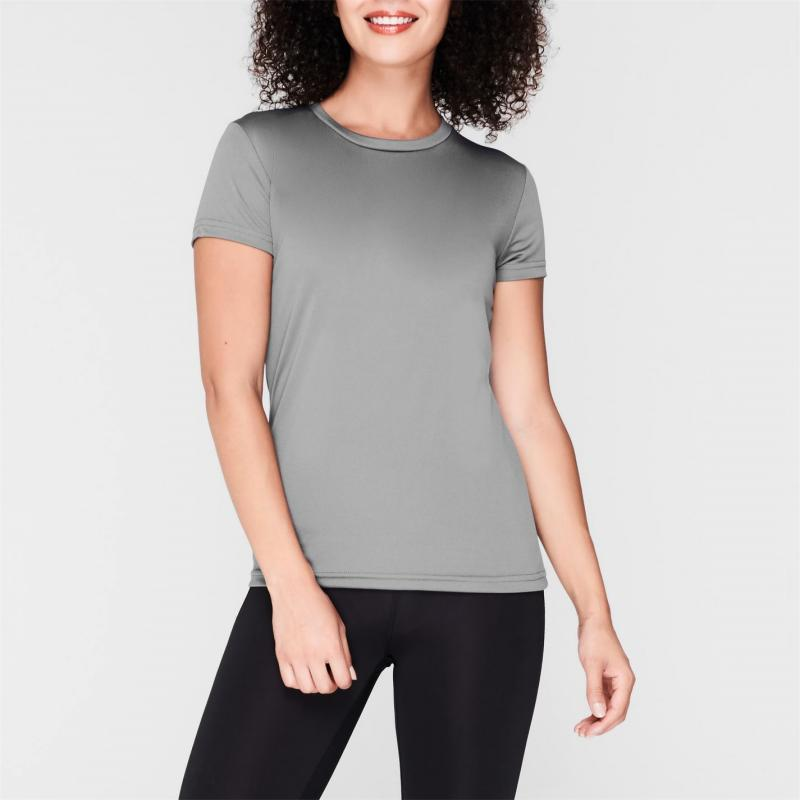 Iron Man Mesh T Shirt Ladies Grey