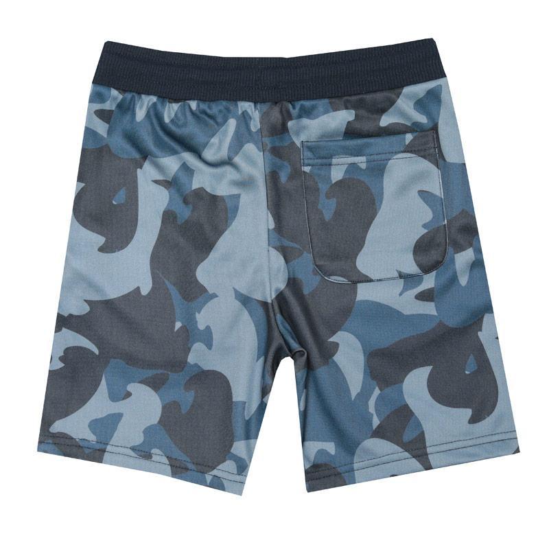 Kraťasy Money Junior Boys Ape Camo Track Shorts Navy