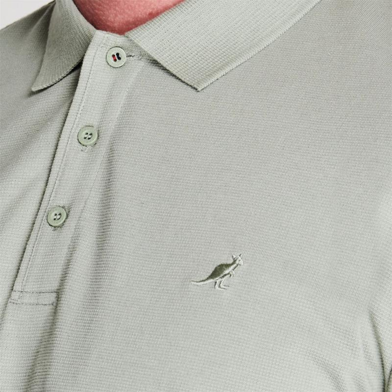 Kangol Brit Fit Polo Shirt Mens Pale Green