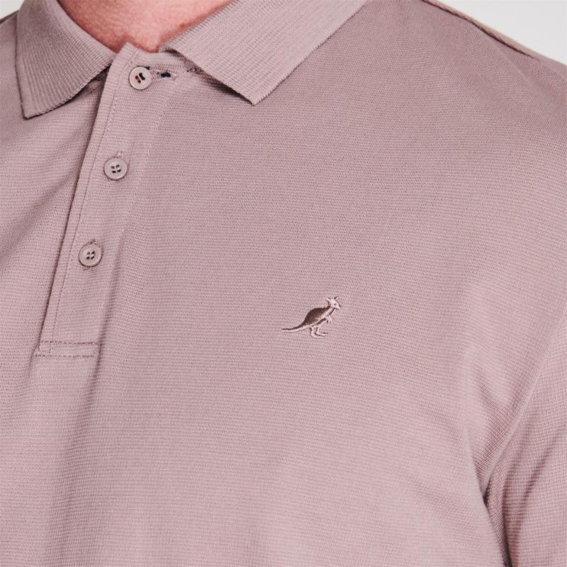 Kangol Brit Fit Polo Shirt Mens Pink