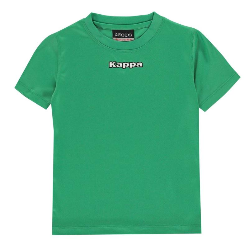 Tričko Kappa Carara T Shirt Junior Boys Green