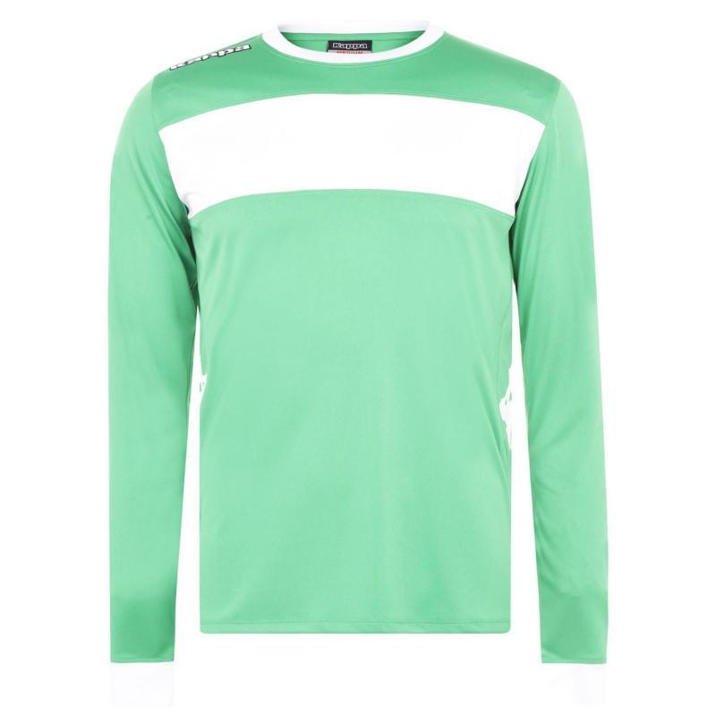 Tričko Kappa Remilio Long Sleeve T Shirt Green / White