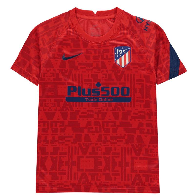 Nike Atletico Madrid Pre Match Shirt 2020 2021 Junior CHALLENGE RED/CHALLENGE RED/CO