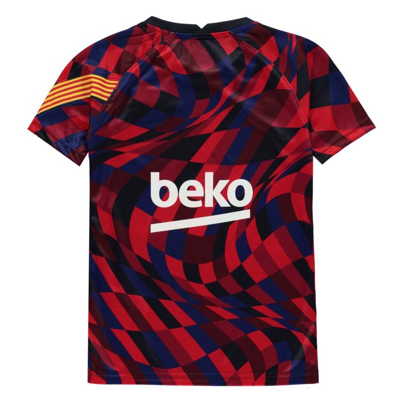 Nike FC Barcelona Pre Match T Shirt Juniors UNIVERSITY RED/UNIVERSITY RED/