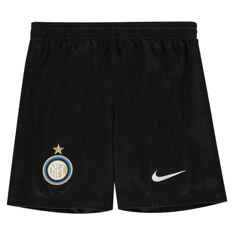 Nike Inter Milan Home Shorts 2020 2021 Junior Black
