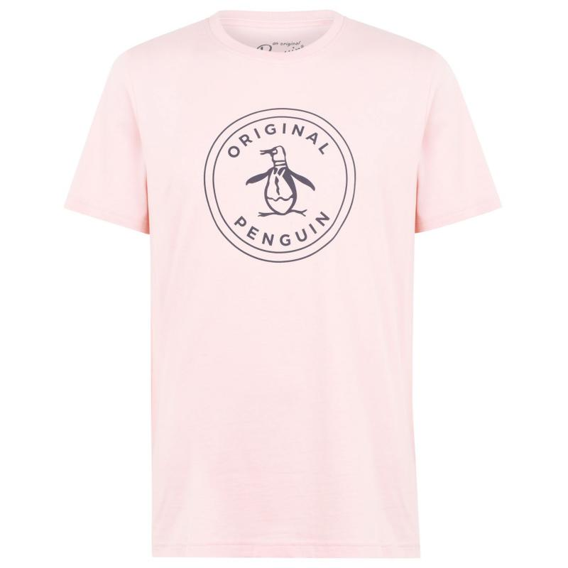 Tričko Original Penguin Original Penguin Stamp Short Sleeve T Shirt 682 Impat Pink