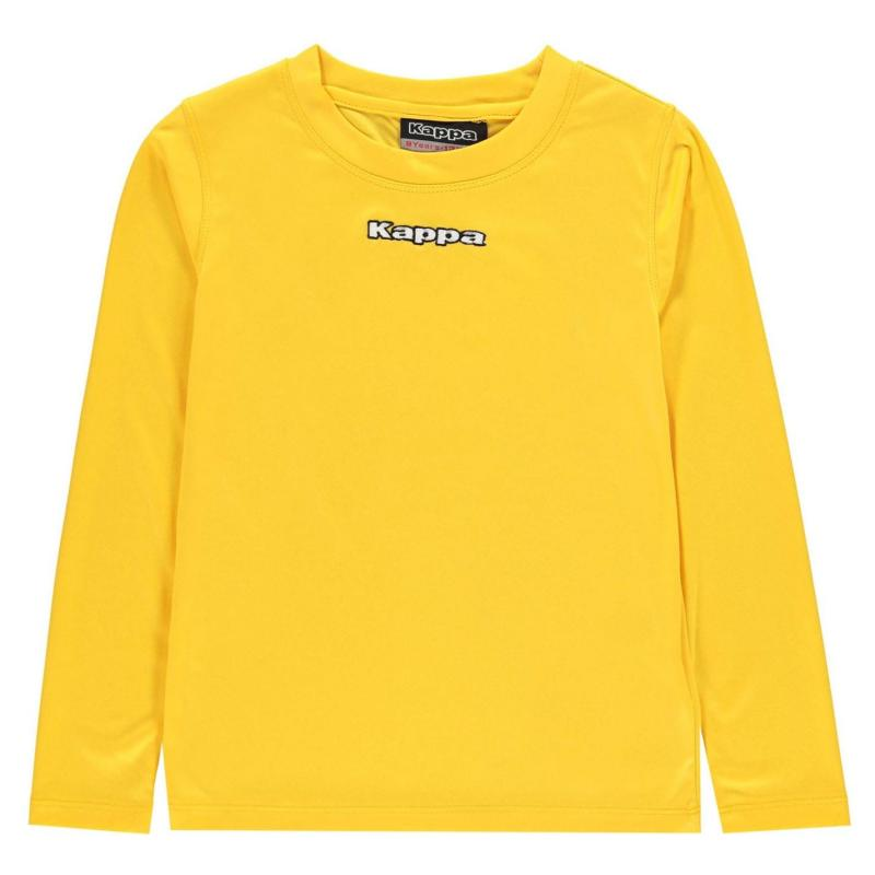 Mikina Kappa Carar Crew Sweatshirt Junior Boys Yellow