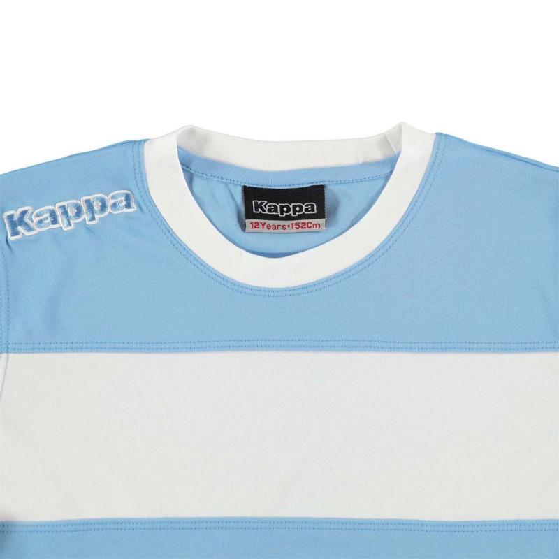 Tričko Kappa Remilio Short Sleeve T Shirt Junior Boys Light Blue / Wh