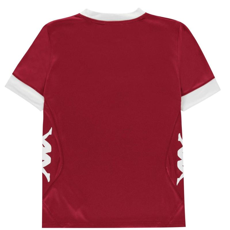 Tričko Kappa Remilio Short Sleeve T Shirt Junior Boys Bordeaux / Whit
