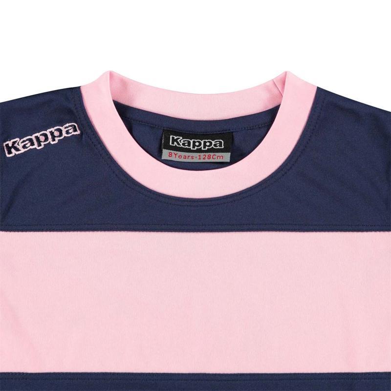 Tričko Kappa Remilio Short Sleeve T Shirt Junior Boys Blue Marine / P