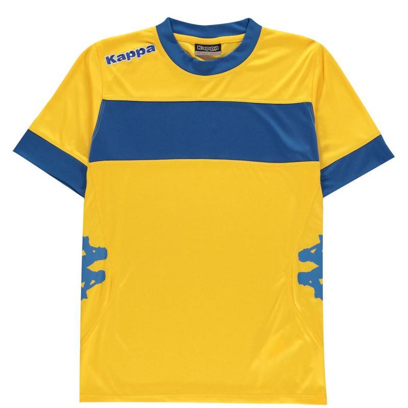 Tričko Kappa Remilio Short Sleeve T Shirt Junior Boys Yellow /Roy