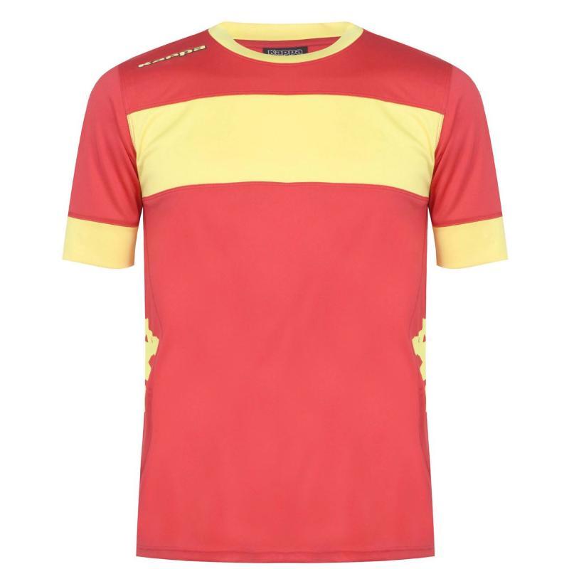 Tričko Kappa Remilio T Shirt Mens Red/ Yellow