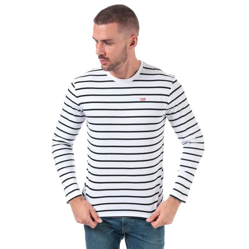 Tričko Levis Mens Classic House Mark Striped T-Shirt White