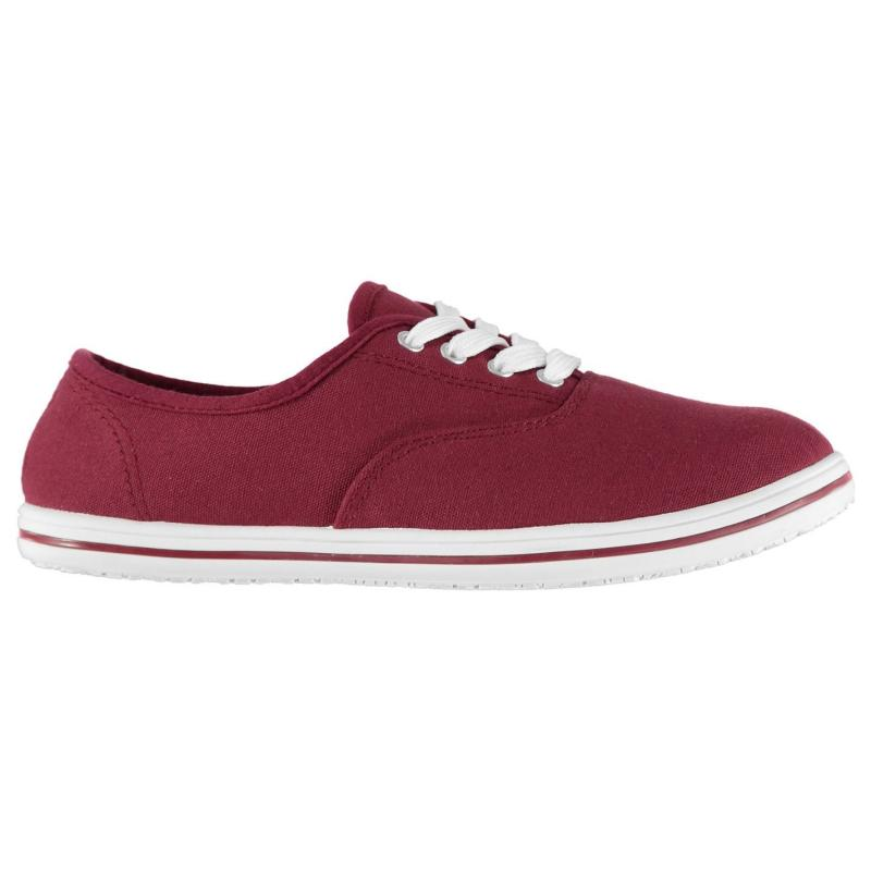 Obuv Slazenger Ladies Canvas Pumps Wine