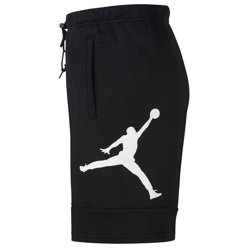 Air Jordan Jordan Fleece Shorts Mens BLACK/BLACK/WHITE