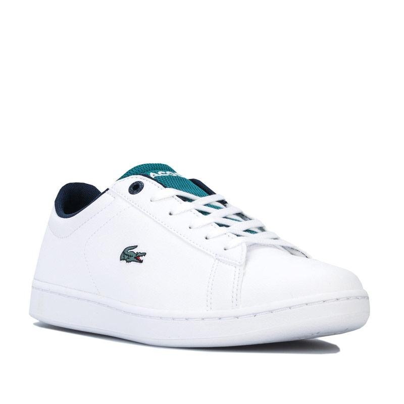 Boty Lacoste Children Boys Carnaby Evo Trainers White Green