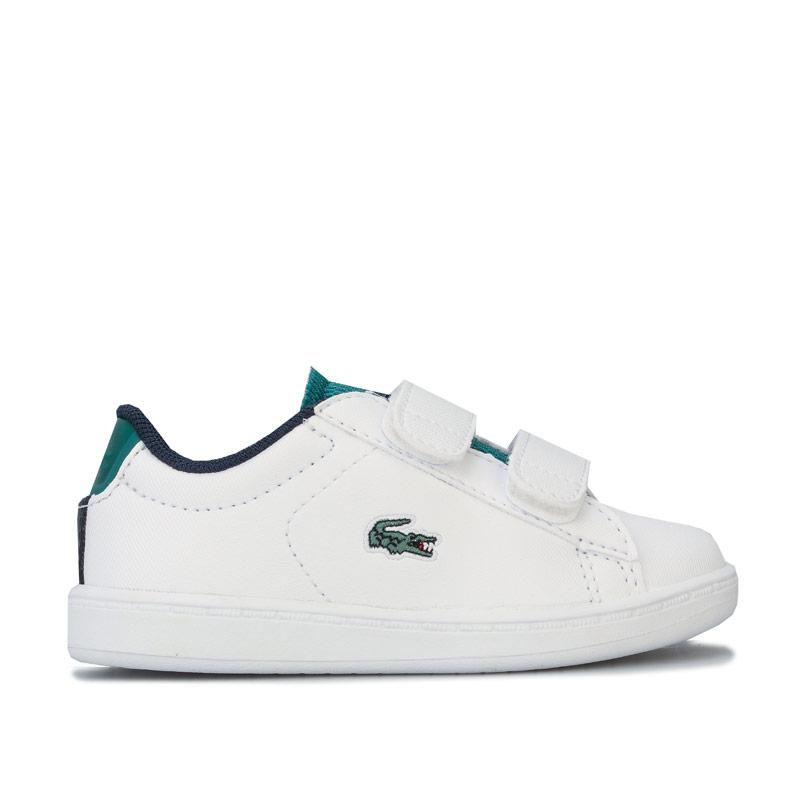 Boty Lacoste Infant Boys Carnaby Evo Trainers White Green