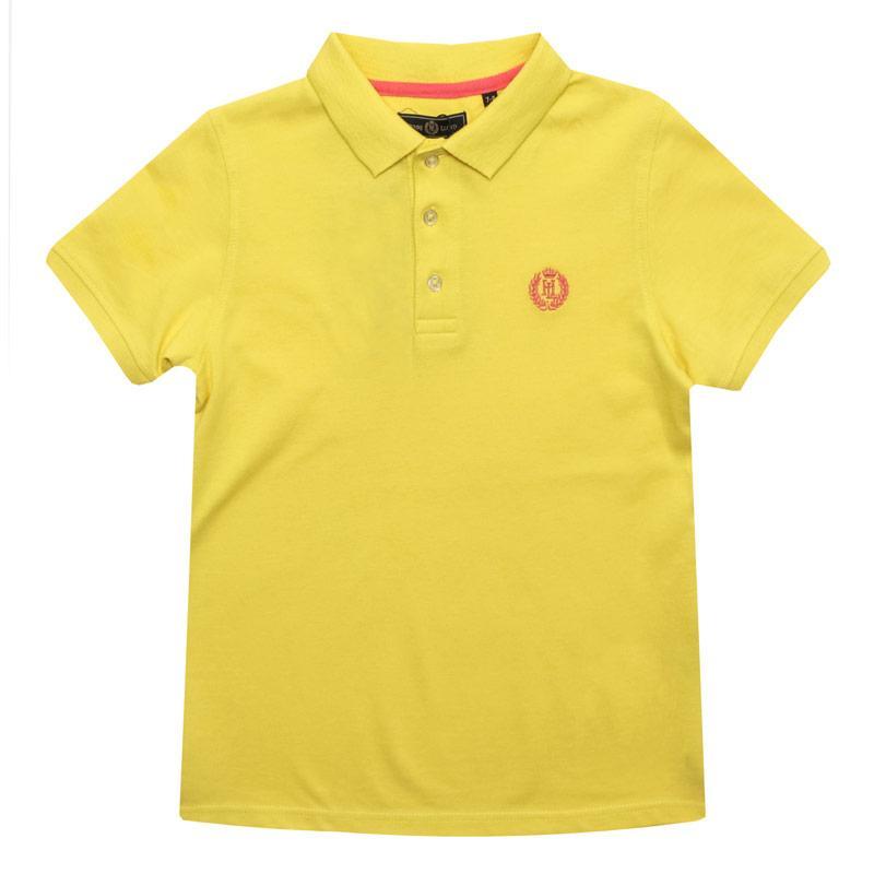 Tričko Henri Lloyd Infant Boys Pop Collar Polo Shirt Yellow