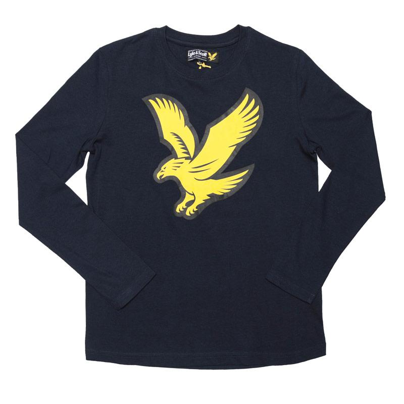 Tričko Lyle And Scott Junior Boys Eagle Long Sleeve T-Shirt Navy