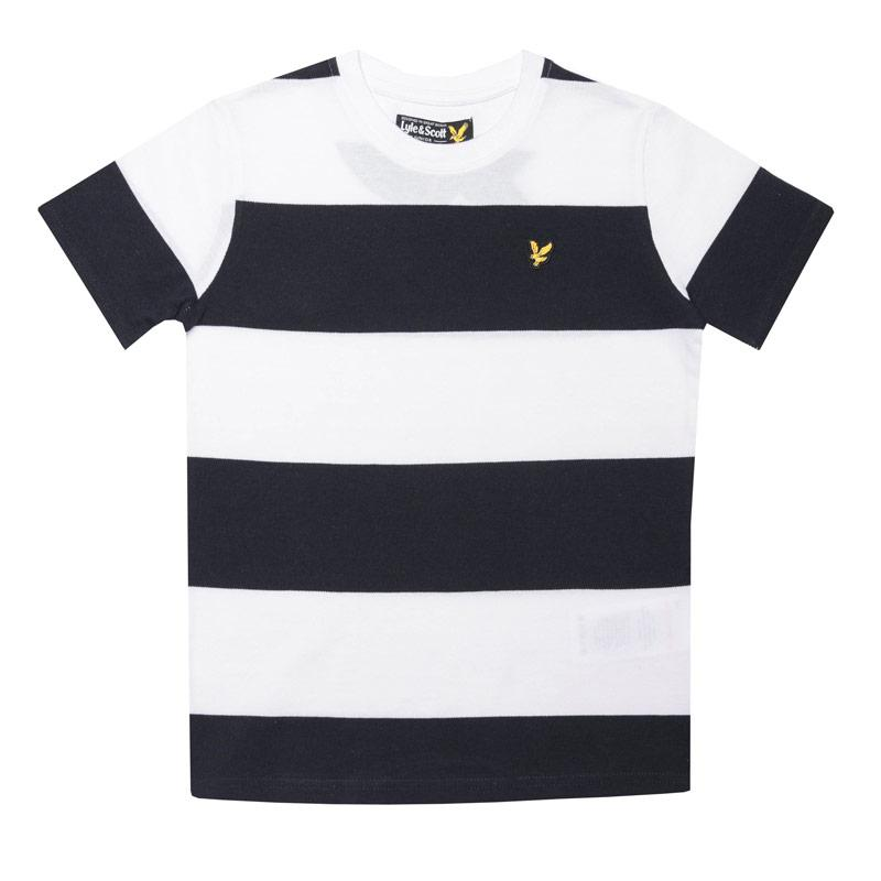 Tričko Lyle And Scott Junior Boys Wide Stripe T-Shirt White