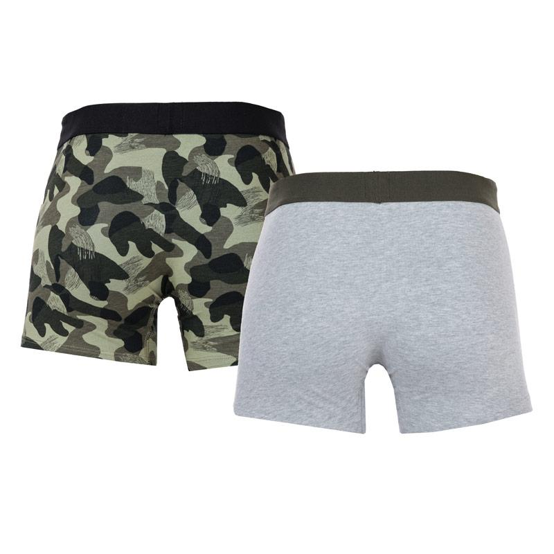 Spodní prádlo Levis Mens Basic 2 Pack Boxer Shorts Grey
