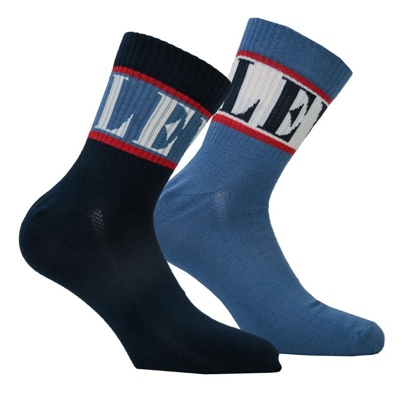 Ponožky Levis Mens Regular Cut 2 Pack Sports Socks blue navy