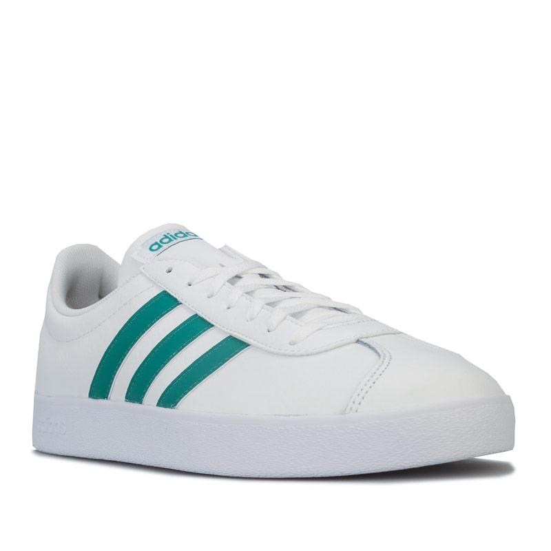 Adidas Mens VL Court 2.0 Trainers White Green
