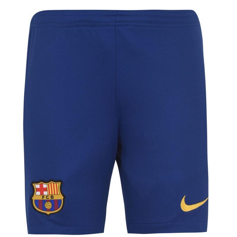 Nike Barcelona Home Shorts 2020 2021 Junior DEEP ROYAL BLUE/VARSITY MAIZE