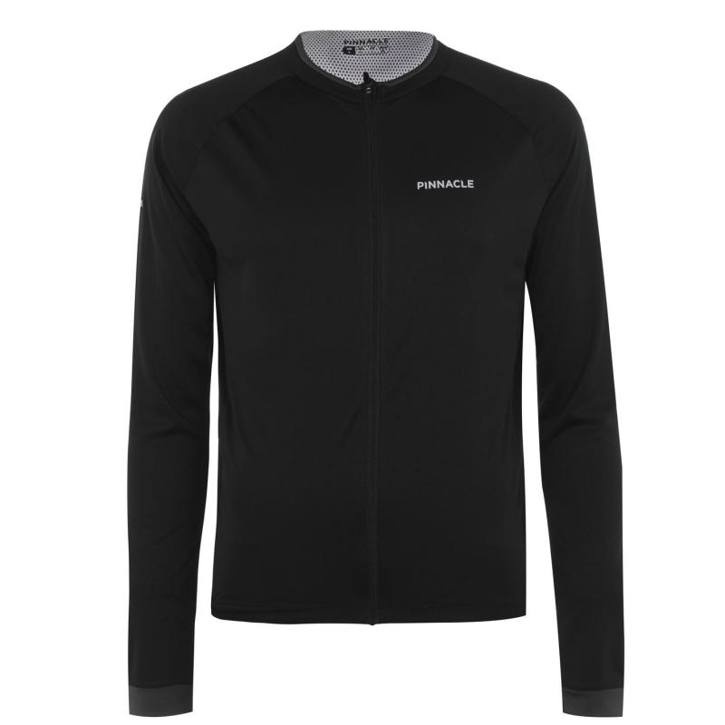 Pinnacle Long Sleeve Cycling Jersey Mens Black